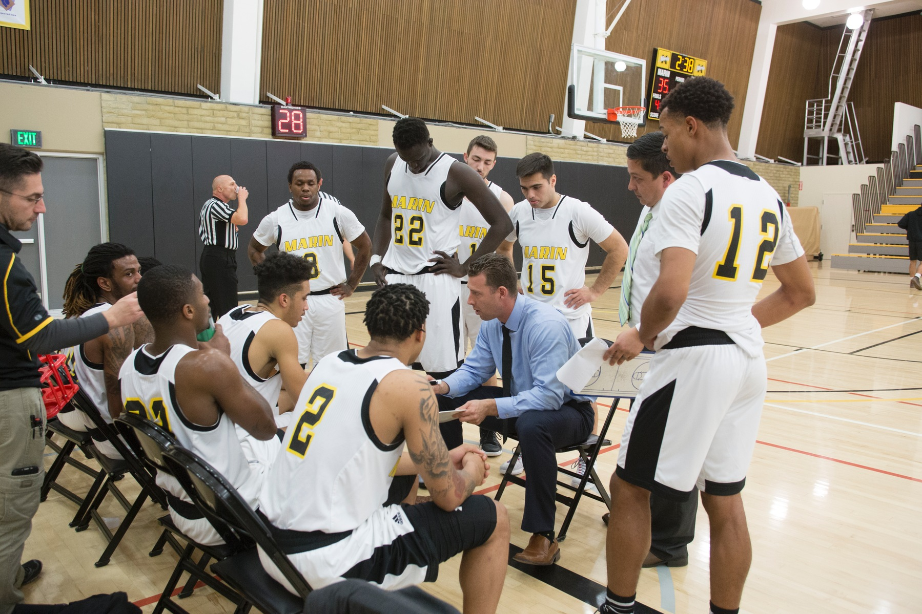 Men's basketball Falls to Allan Hancock 113-78 in Ohlone Tournament