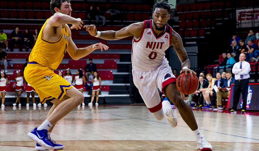 NJIT Hangs On at Drexel for Fourth Road Win; Lewis Records Double-Double
