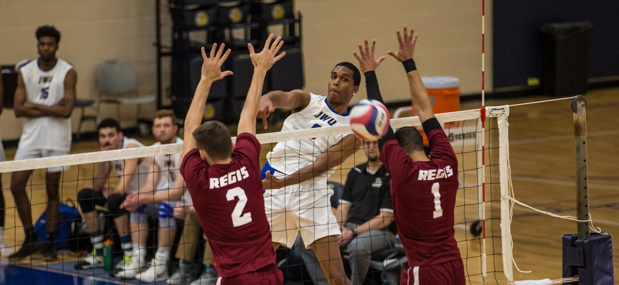 Men's Volleyball Tops Regis 3-0 For Eighth-Straight Win