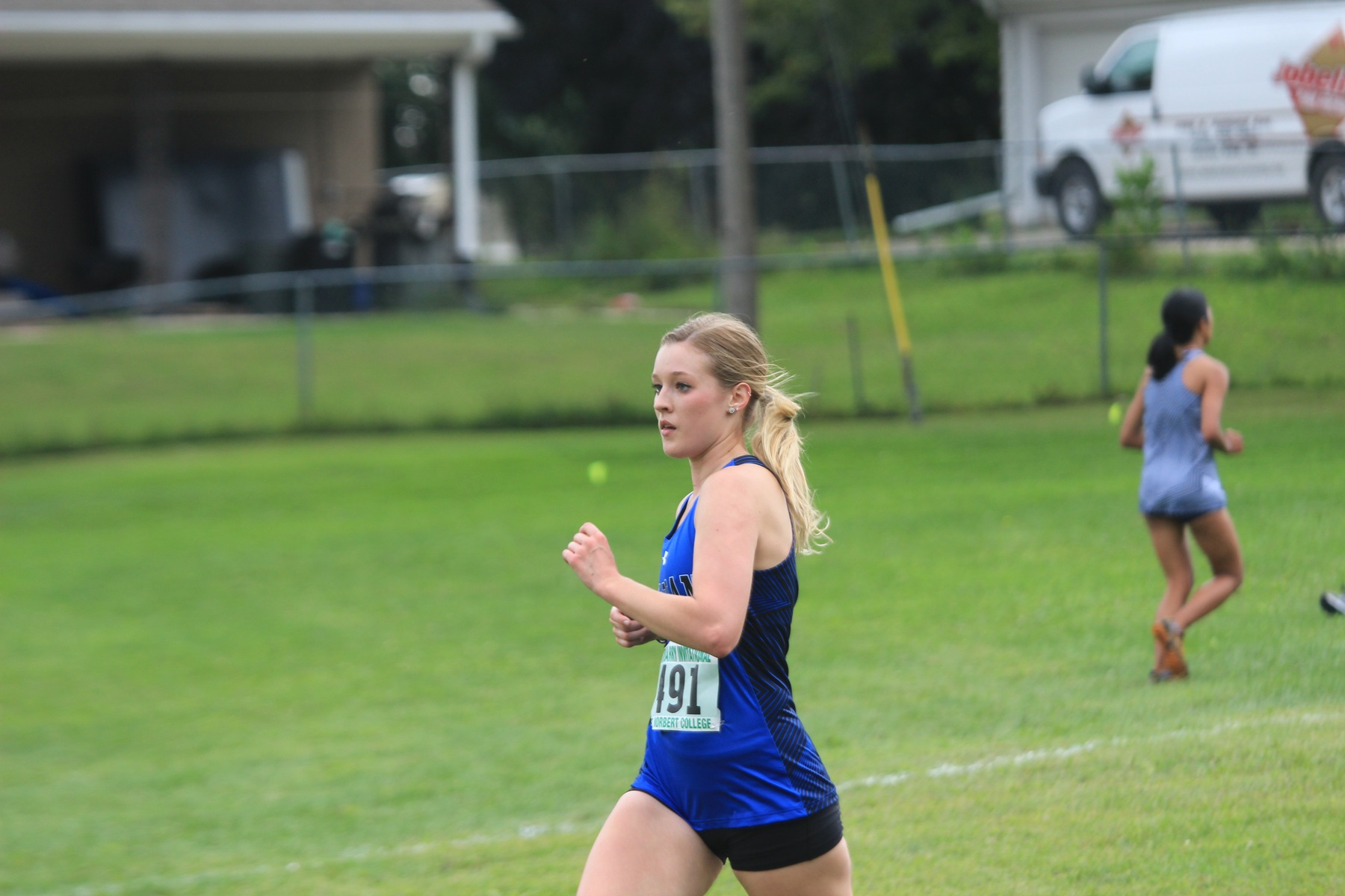 Alyssa Zuhlke looks to keep her pace.