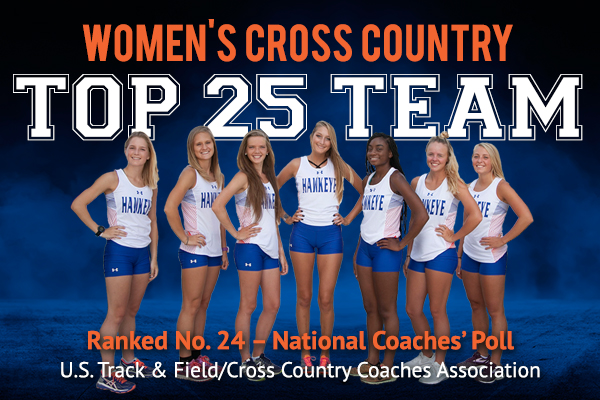 Hawkeye RedTails Women's Cross Country Ranked No. 24 in National Coaches' Poll