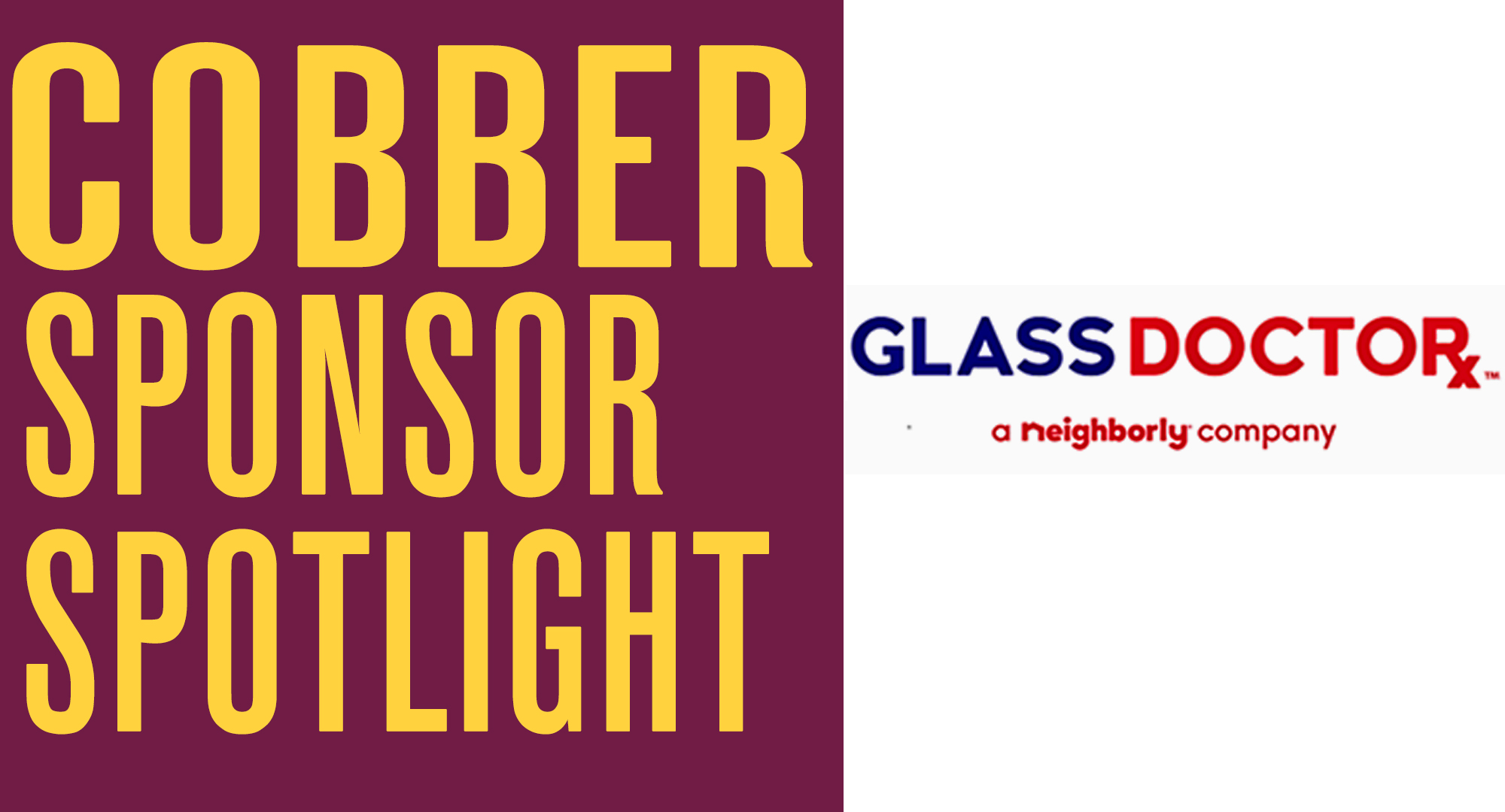 Cobber Sponsor Spotlight - Glass Doctor
