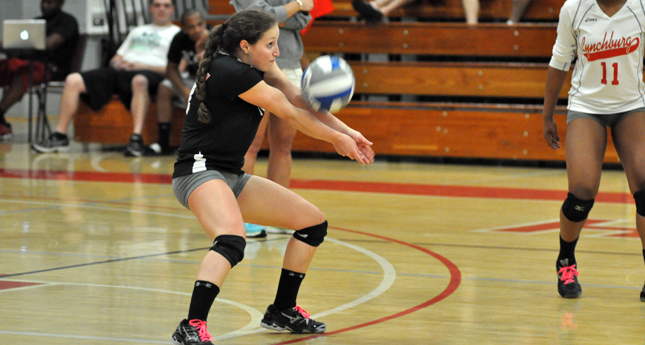 LC Volleyball Scores Big Win Over Bridgewater