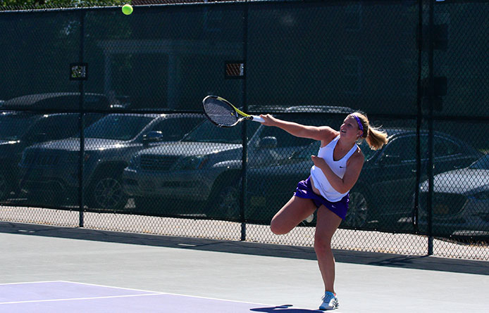 Women's Tennis Downs Franklin Pierce to Begin Two-Match Weekend