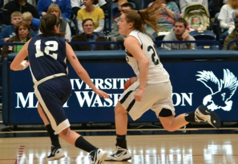 McRae, Witmer Lead #7 UMW Women's Basketball Past Messiah in NCAA Tourney 2nd Round, 53-50