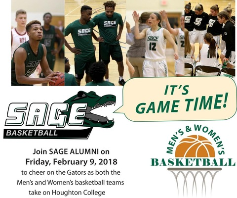 Attention Sage Alumni! Join the Gators on Feb. 9 for Alumni Night at Sage's home Basketball DH!