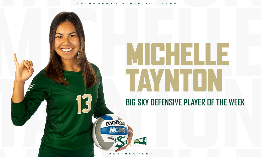 TAYNTON NAMED BIG SKY VOLLEYBALL DEFENSIVE PLAYER OF THE WEEK