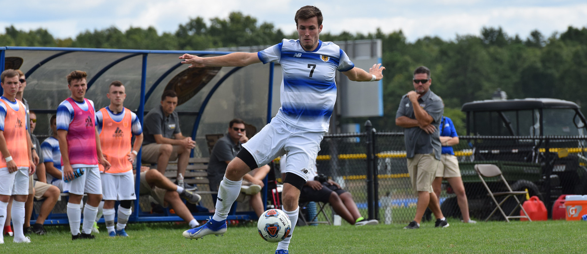 Brendan Claflin scored his first goal of the season in Western New England's 2-0 win at Worcester State on Friday. (Photo by Rachael Margossian)