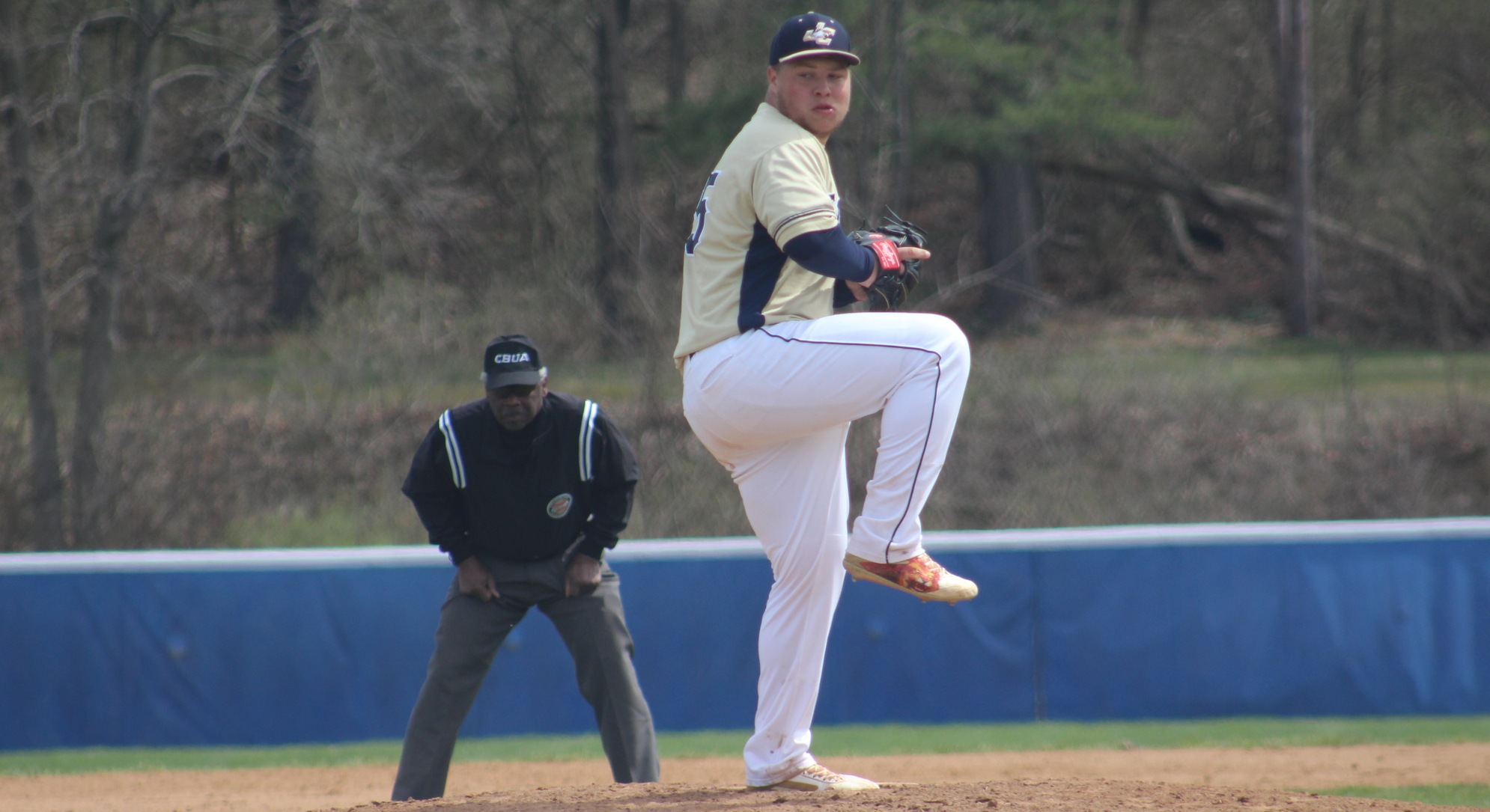 Adam Kipp started on the mound for the Eagles, striking out three.