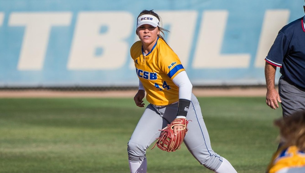 Sierra Altmeyer hit a walk-off homerun in game one against Cal Poly on Saturday (Photo by Tony Mastres)