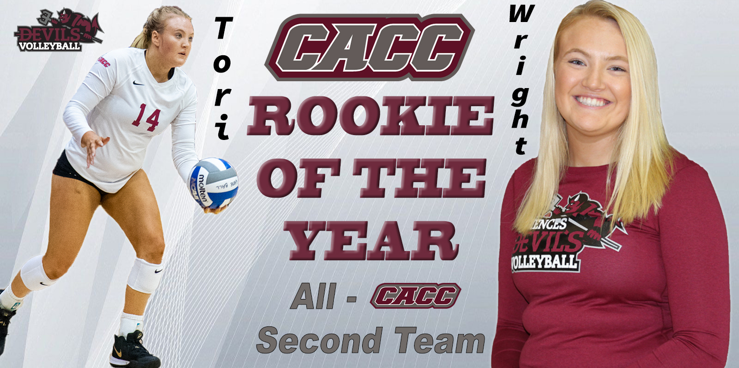 Volleyball's Wright Becomes Third CACC Rookie of the Year in Program History; First All-CACC Selection Since 2013