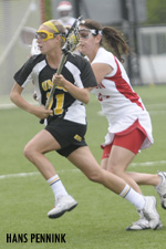 Emily Coady scored four goals against Boston University in the 2010 America East title game.