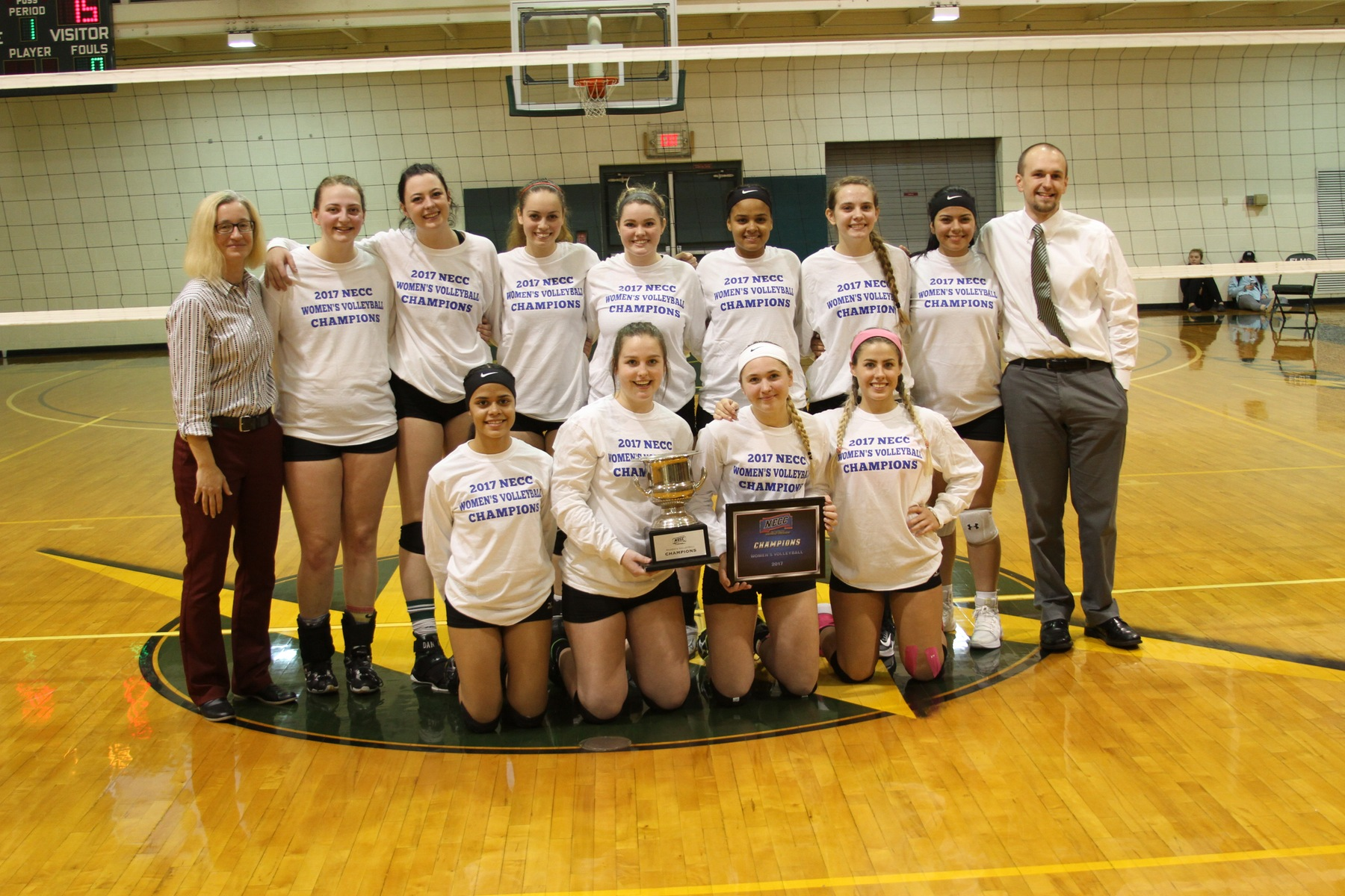 Women's Volleyball Captures First NECC Championship