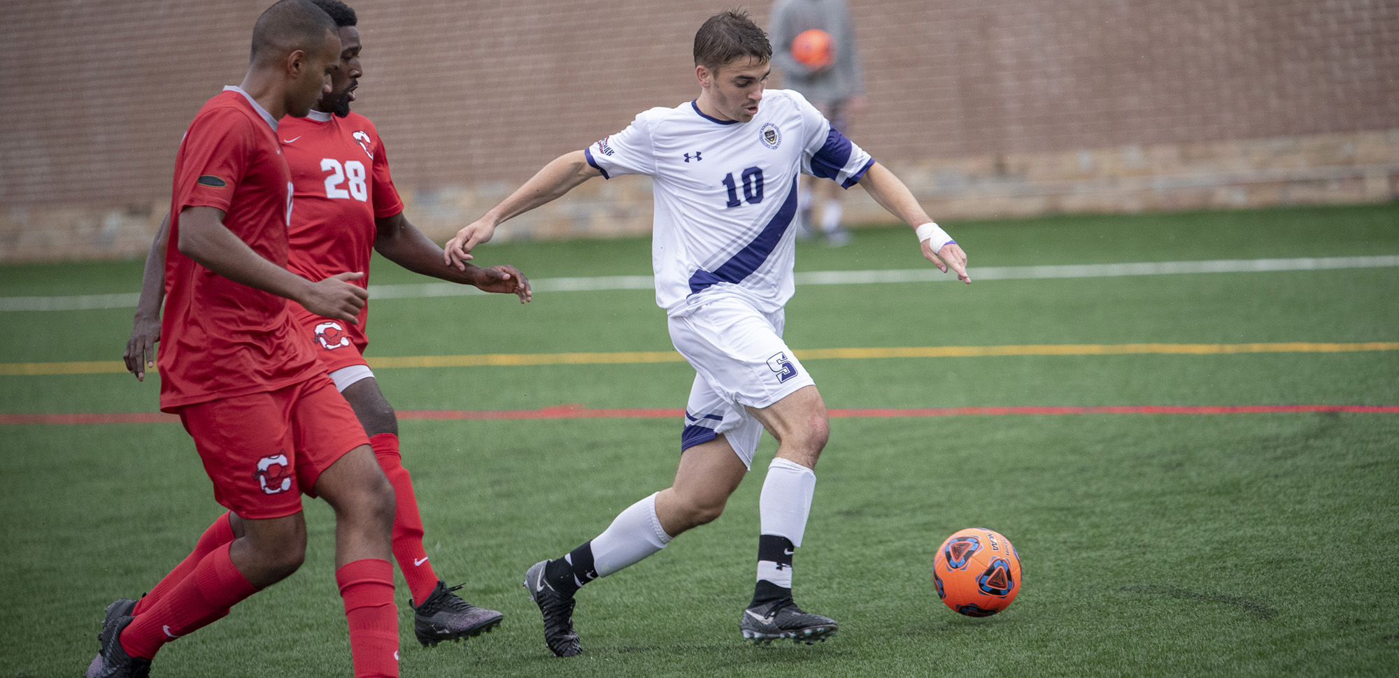 Men's Soccer Edged by Moravian in Landmark Conference Action, 2-1