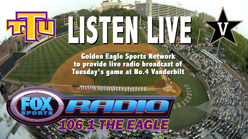 Tuesday's baseball game at Vanderbilt to be broadcasted on Golden Eagle Sports Network