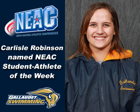 Carlisle Robinson named NEAC Student-Athlete of the Week