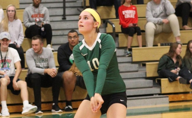 Emily Cottrell (10) had 15 digs for Keuka College against SUNY Canton