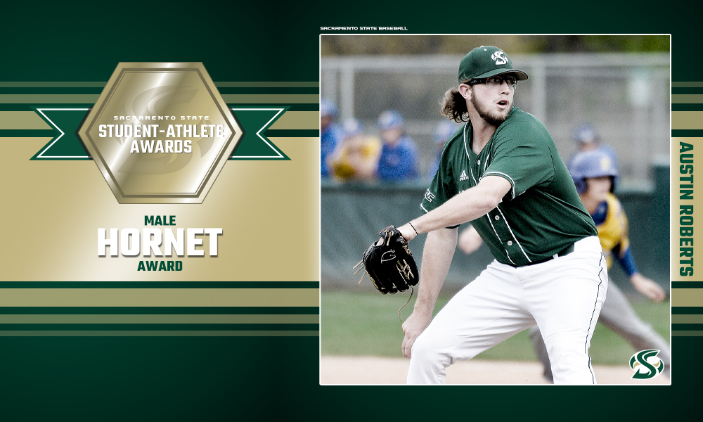 BASEBALL'S AUSTIN ROBERTS RECIPIENT OF THE MALE HORNET AWARD