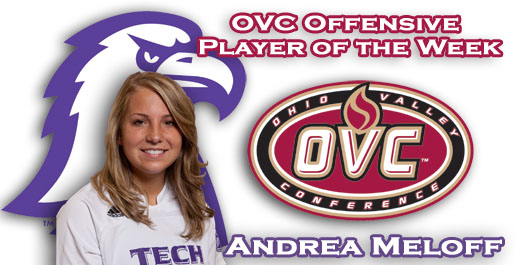 Meloff named OVC's Offensive Player of the Week