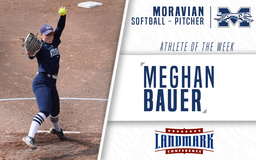 Meghan Bauer named Landmark Conference Softball Pitcher of the Week.