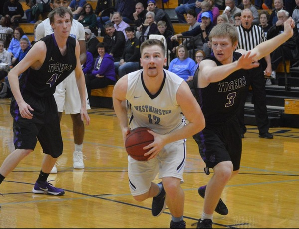 Westminster Men's Basketball Cruises to Victory Over Iowa Wesleyan