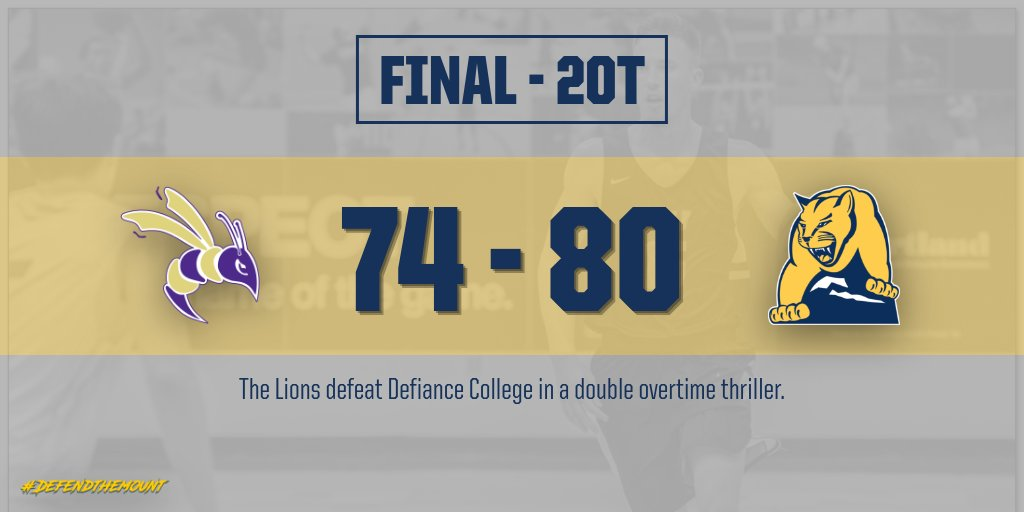 The Lions defeat the Defiance Yellow Jackets in a double overtime thriller