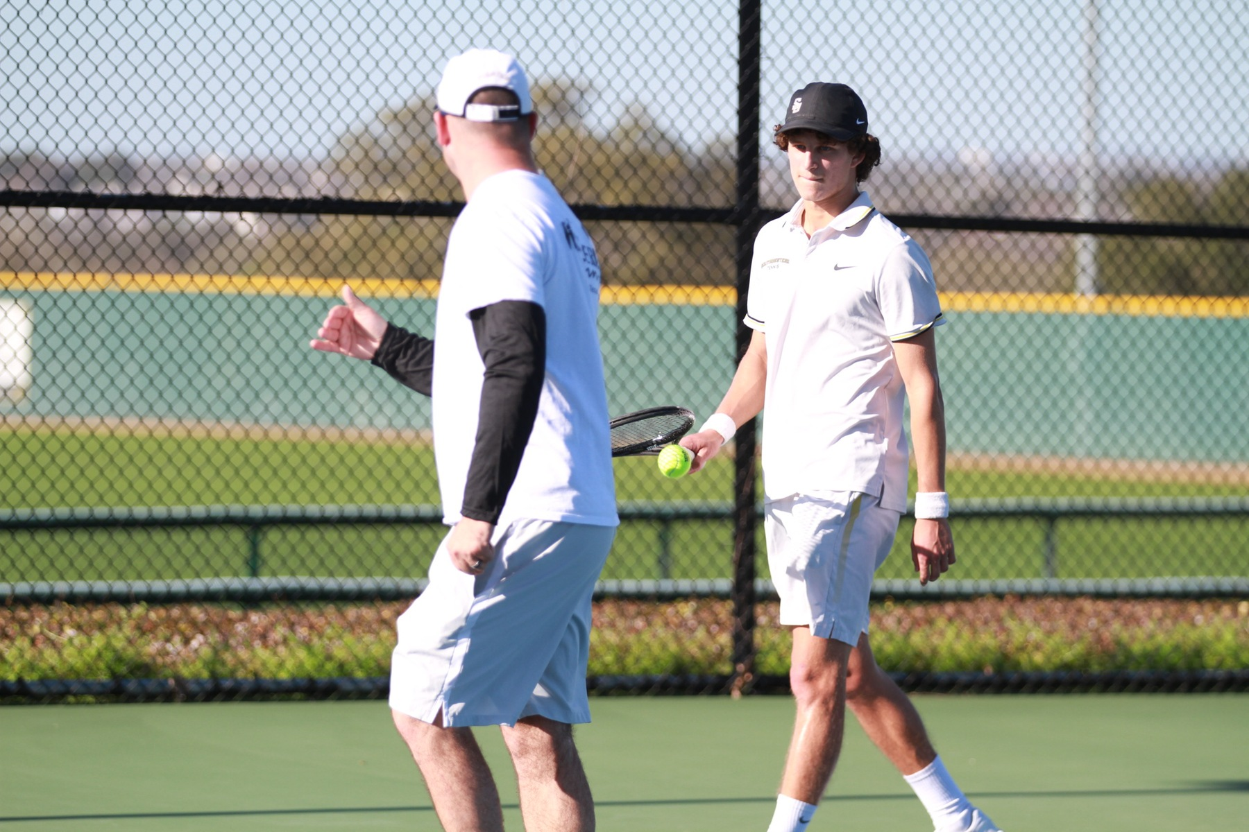 Men's Tennis Sweeps Centenary in Final Regular Season Match