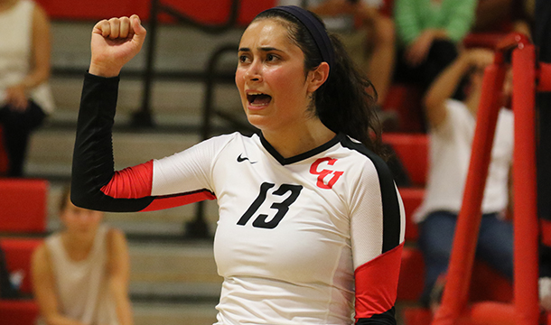 Women's Volleyball Defeats Coast Guard In NEWMAC Action