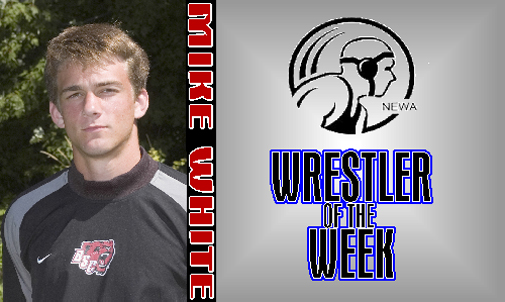 Mike White Named NEWA Rookie Wrestler of the Week