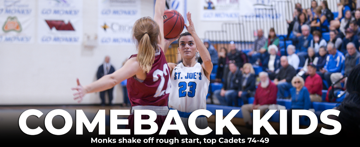 Monks Shrug Off Slow Start, March Past Cadets, 72-49