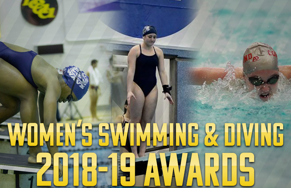 SUNYAC presents women's swimming and diving annual awards