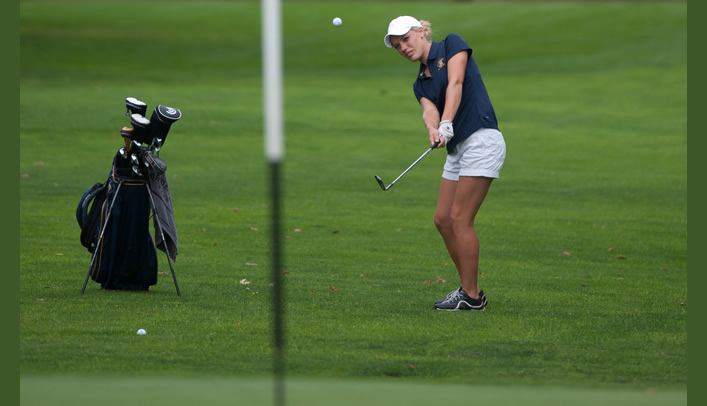 Mattes Earns Medalist Honors as Women's Golf Wins Home Invite