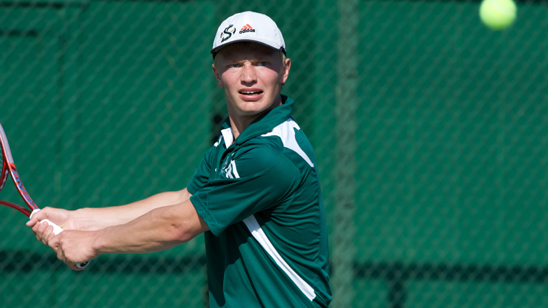 MEN'S TENNIS PICKS UP A PAIR OF CONFERENCE WINS