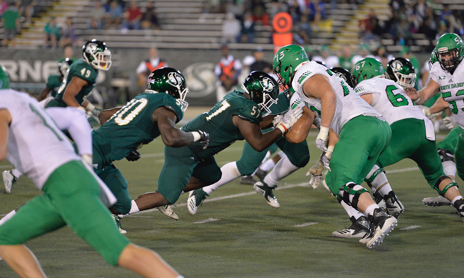 FOOTBALL FALLS IN HOMECOMING GAME AGAINST NORTH DAKOTA