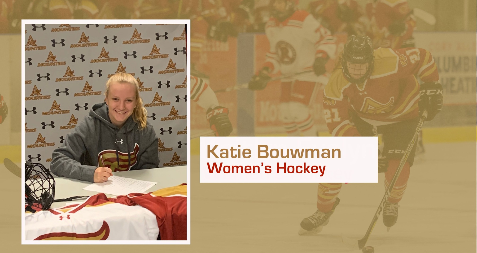 Mounties women's hockey add Katie Bouwman