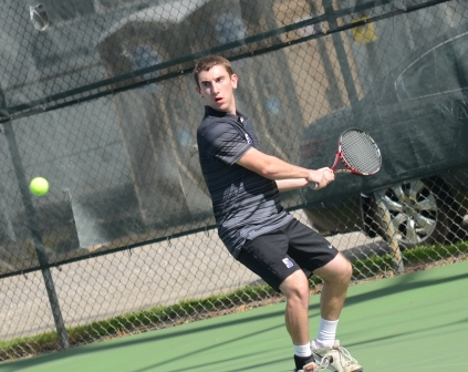 David Teres won two matches today in the Royals' 6-3 loss to Juniata College in Landmark Conference action at the Royal Courts