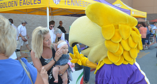 White County Purple Pride Caravan huge hit at Sparta Walmart