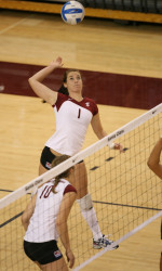No. 22 Santa Clara Volleyball Tops UC Davis, 3-1, In Home Opener