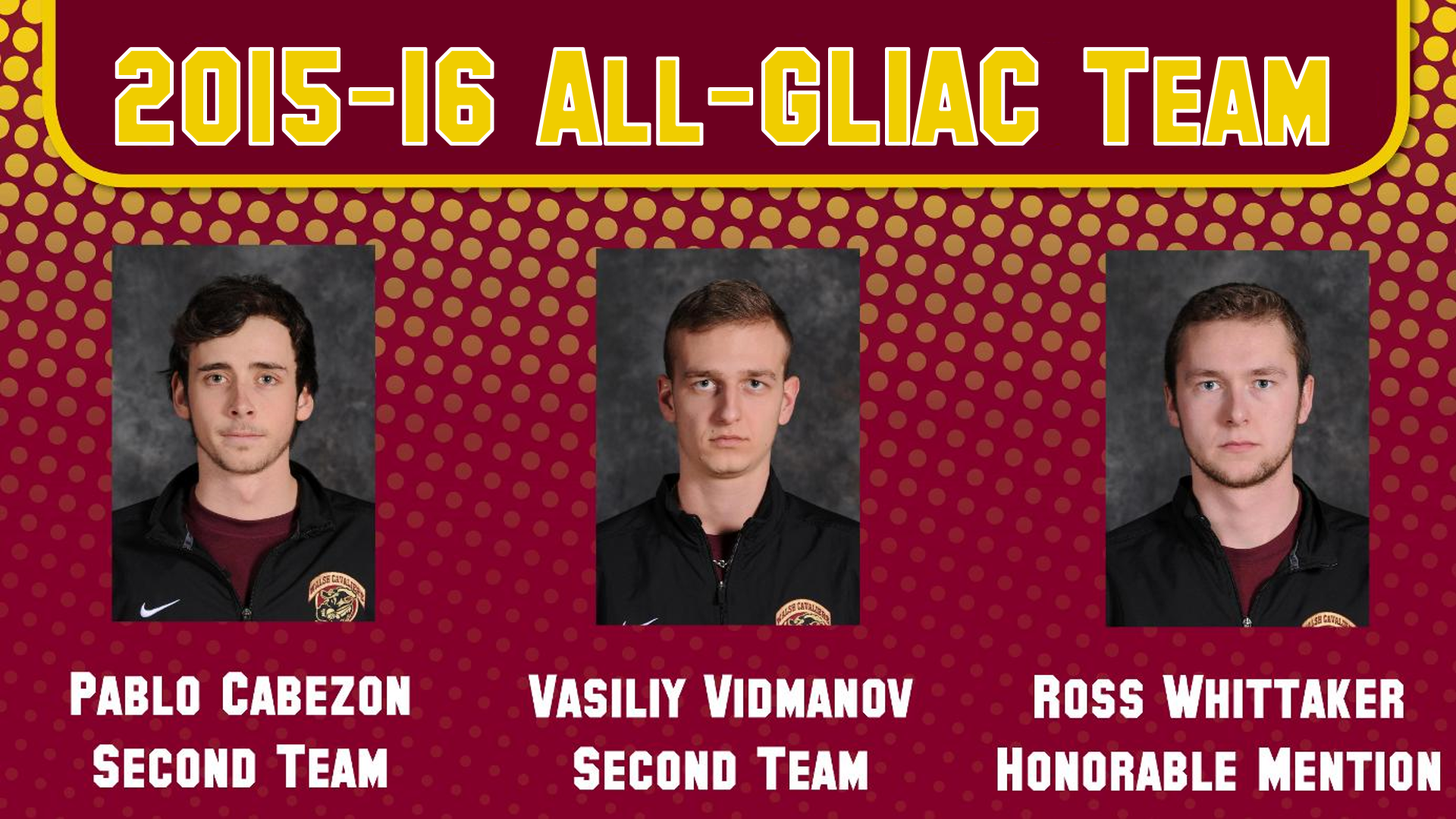 Cabezon, Vidmanov, Whittaker Earn Repeat All-GLIAC Honors