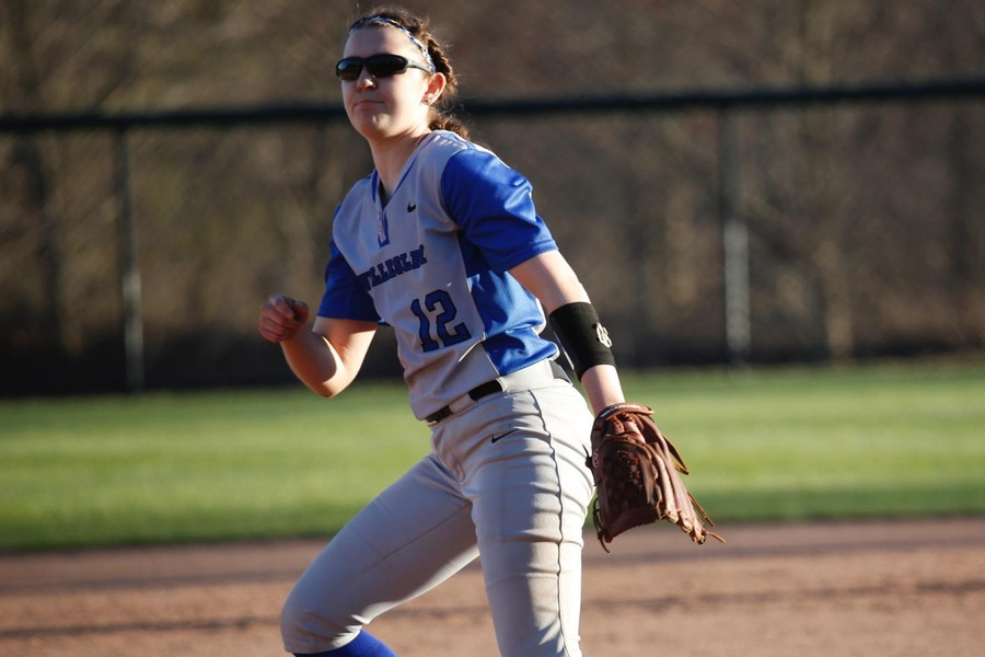 Junior Sydney Hopper pitched 2.2 innings of scoreless relief to earn the win against Middlebury (Steve Pisac).