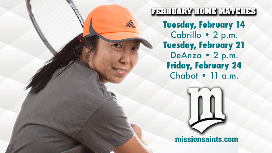 Women's Tennis Matches in February.