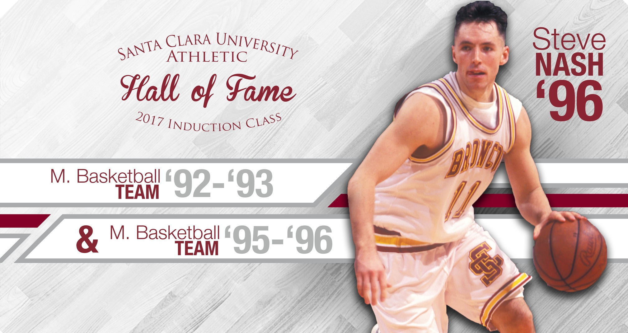 Nash, Two Standout Men's Basketball Teams Head to Santa Clara Athletics Hall of Fame