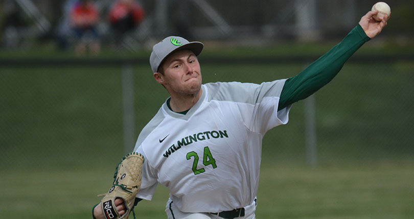Sophomore Jared Ferenchak took the no-decision in game one. (Wilmington file photo)