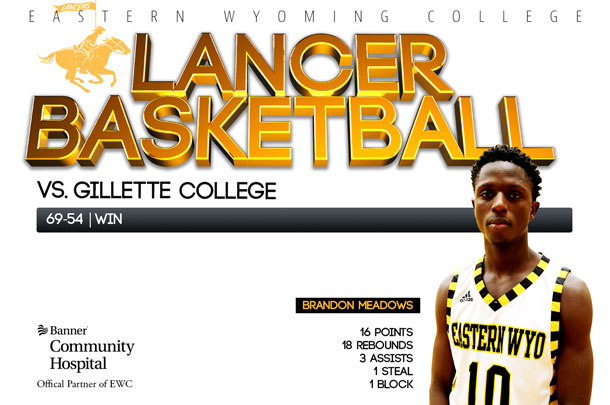 Eastern Wyoming College Lancer Basketball team vs. Gillette College Basketball team