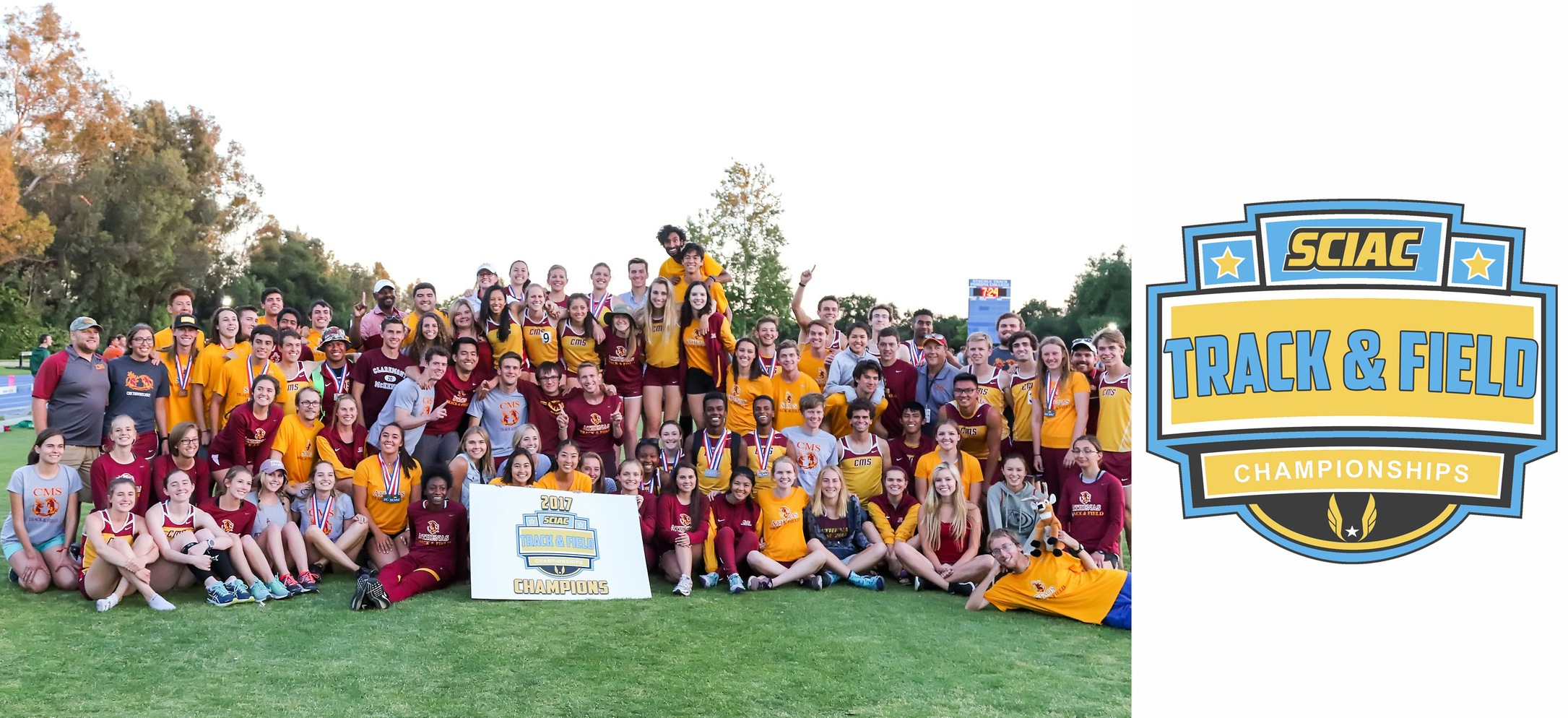 CMS sweeps track & field SCIAC Championships