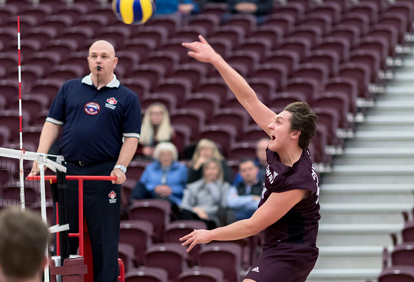 Jordan Krause came MacEwan a lift off the bench in Friday's match at UBC, but it wasn't enough for the Griffins to overcome a rusty performance (Chris Piggott photo).