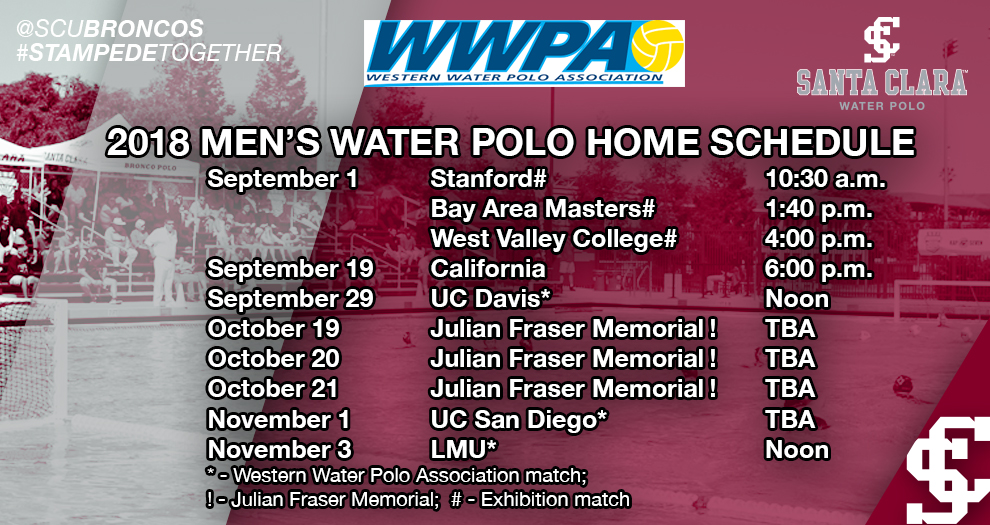 Men's Water Polo Schedule Announced