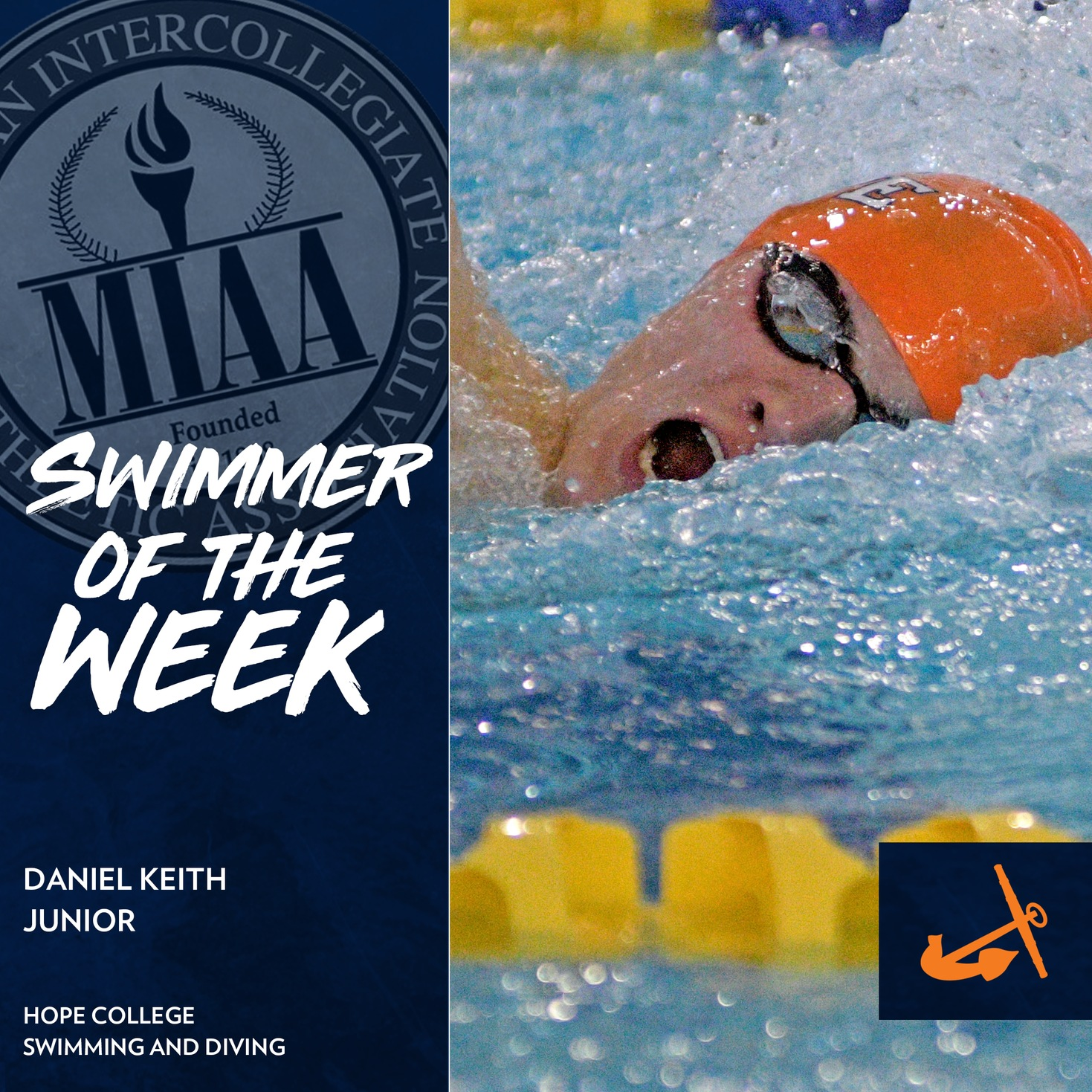 Daniel Keith swims the freestyle