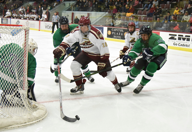 Men's Hockey: Cadets out last Plattsburgh, 8-5