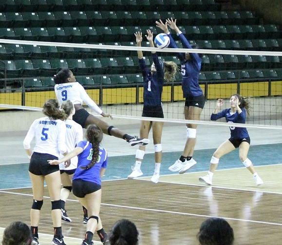 Cougar Volleyball's Defense Stifles Victoria For Their 12th Win of Season